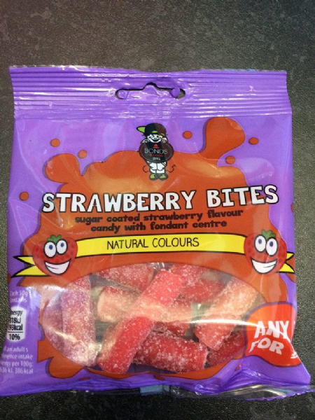 Bonds Strawberry Bites 50g packet